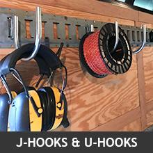 U-hooks holding items on E-Track