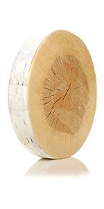 "Log Slice Birtch Wood Seat Cushion - Soft Seat Memory Foam, 15"" L x 15"" W x 2.75"" H Cushie Pillow S"