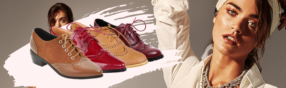 pointed toe lace up oxfords for women