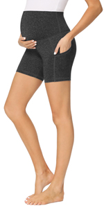 maternity workout leggings with pockets - 5 Inches