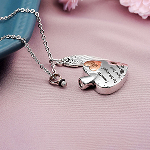 heart urn necklace for dad