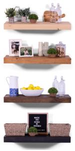eased edge floating shelves solid wood white pine