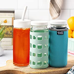 silicone sleeves for glass bottles, juicing jars, insulator