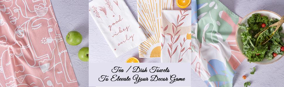 tea towels for kitchen, hand towels, linen dish towels, dish towels, fall tea towels, festive