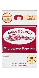 Ladyfinger Cheddar Cheese Flavor Microwave Popcorn