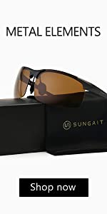 Men's HD Polarized Sunglasses for Driving Fishing Cycling Running Metal Frame