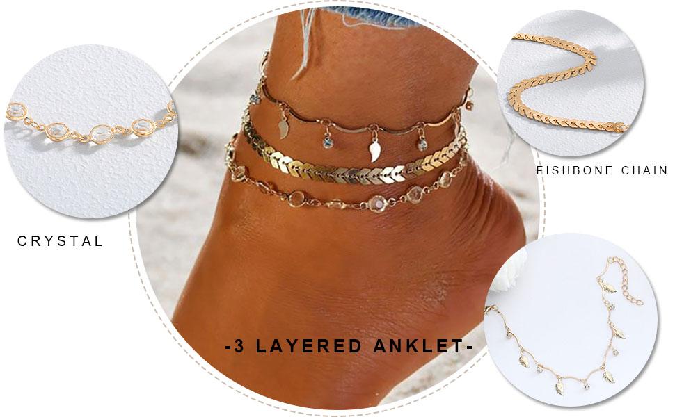 Summer Star Tassel Ankle Bracelet Foot Chain Beach Elegant Teinket Women Anklet