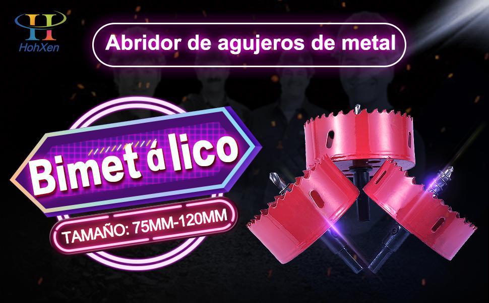 KS Tools 129.5075 Corona perforadora de bimetal de HSS 75mm /Ø 75 mm