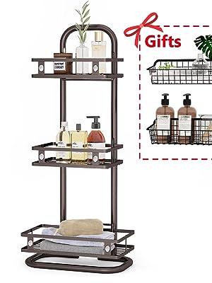 Simple Houseware Bathroom Hanging Shower Head Caddy Organizer, Bronze