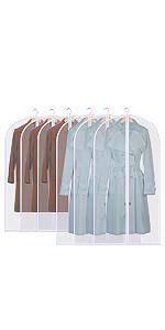 sac de suspension pliable pour manteau de rangement en tissu de costume maison Housse anti-poussi/ère de v/êtements durables semi-transparente