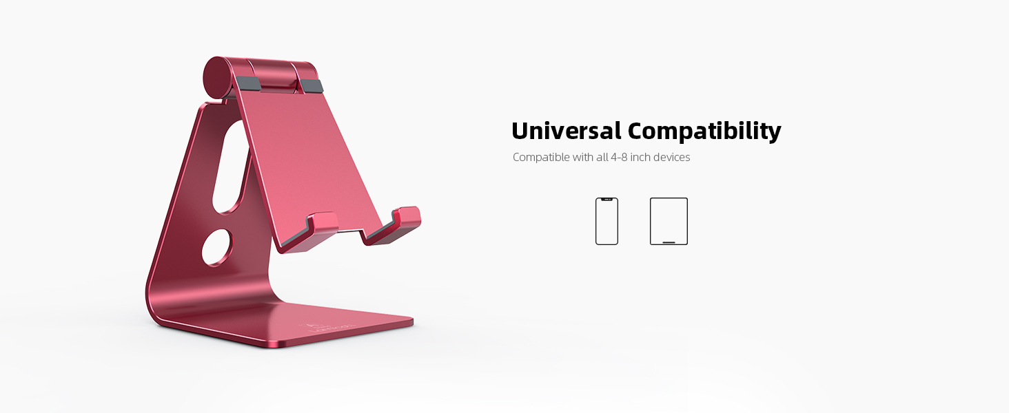 phone stand  Adjustable Cell Phone Stand, Lamicall Phone Stand : [Update Version] Cradle, Dock, Holder Compatible with iPhone Xs XR 8 X 7 6 6s Plus SE 5 5s 5c Charging, Accessories Desk, Android Smartphone – Red 29129fee d51d 4a98 aab9 5aa2dcfaaa27