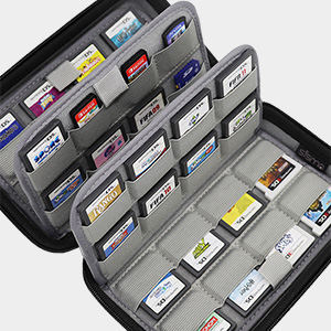 nintendo switch 3ds ds 2ds game card case holder cartridges storage