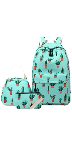 cactus backpack for school