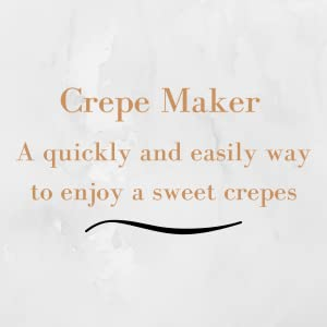 Crepe machine