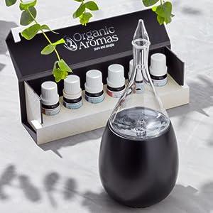 organic aromas black raindrop essential oil nebulizing diffuser