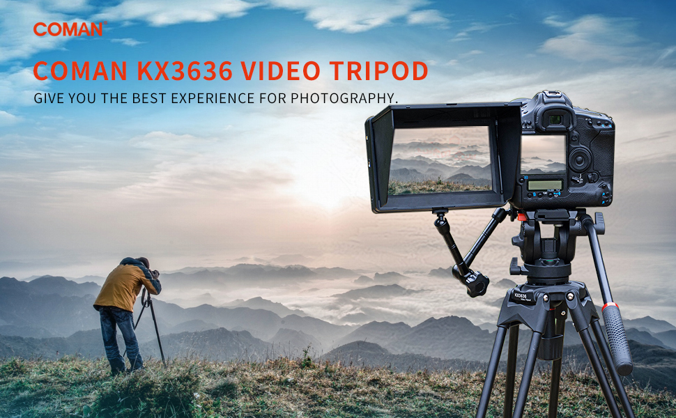Professional Heavy Duty Aluminum Twin Tube Tripod