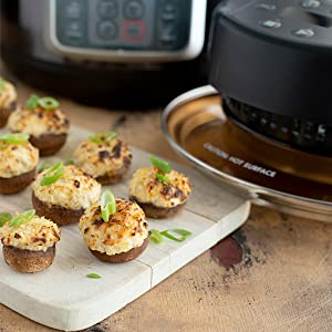 Mealthy CrispLid for Pressure Cooker - Turns your Pressure Cooker into an Air Fryer - Air fry, Crisp or Broil fits 6 & 8 Q Pot Basket, Trivet, ...