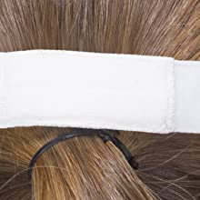 Elastic-free hypoallergenic strap with velcro to keep your mask firmly secured