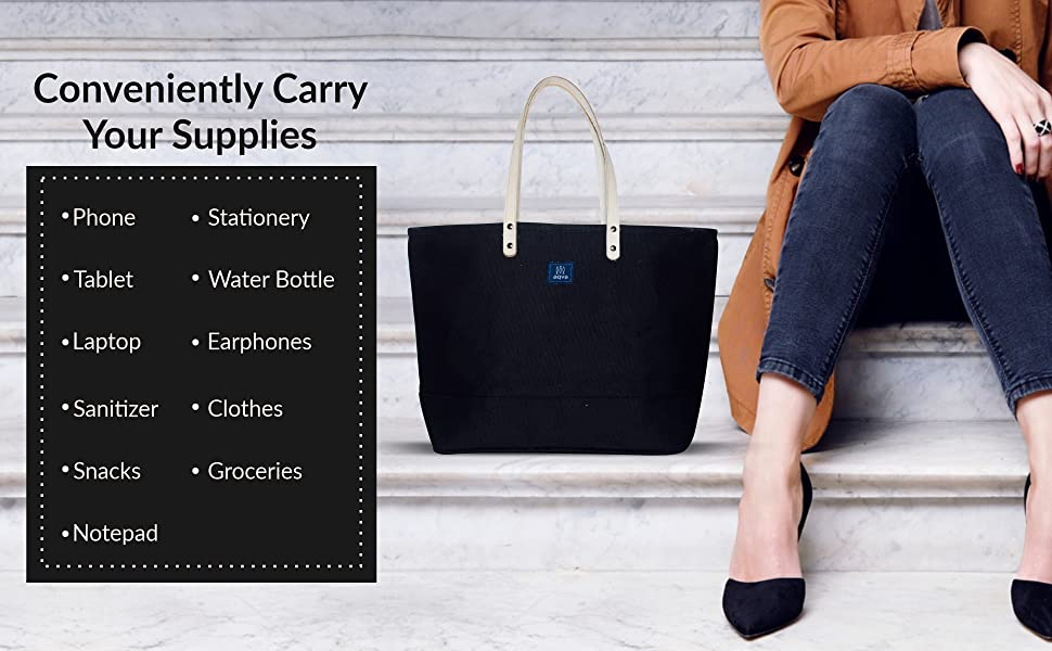 B08GZ2PFML - Cotton Canvas Tote Bag (Waterproof) SPN-FOR1