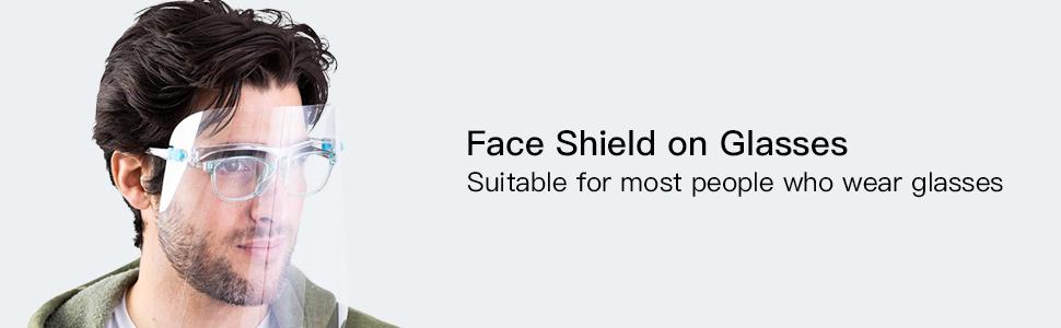 Gesichtsschutz Set mit 10 austauschbaren Anti-Beschlag-Schilden und 10 wiederverwendbaren Brillen f/ür M/änner und Frauen zum Schutz von Augen und Gesicht