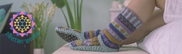 Tibetan Socks Long Wool Slipper Socks