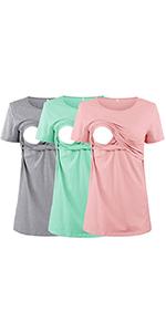 3 PACK Nursing Shirts