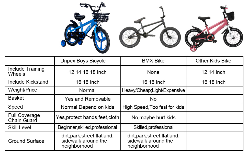 kids bike with training wheels and kickstand dirt bike