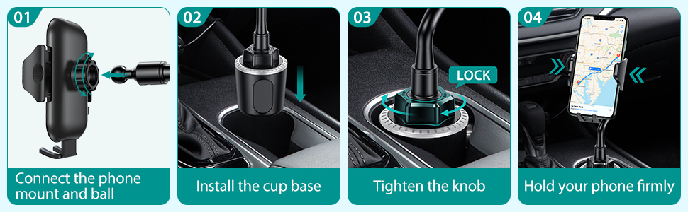 cup holder phone mount phone cup holder for car cup holder phone mount phone holder car iphone mount