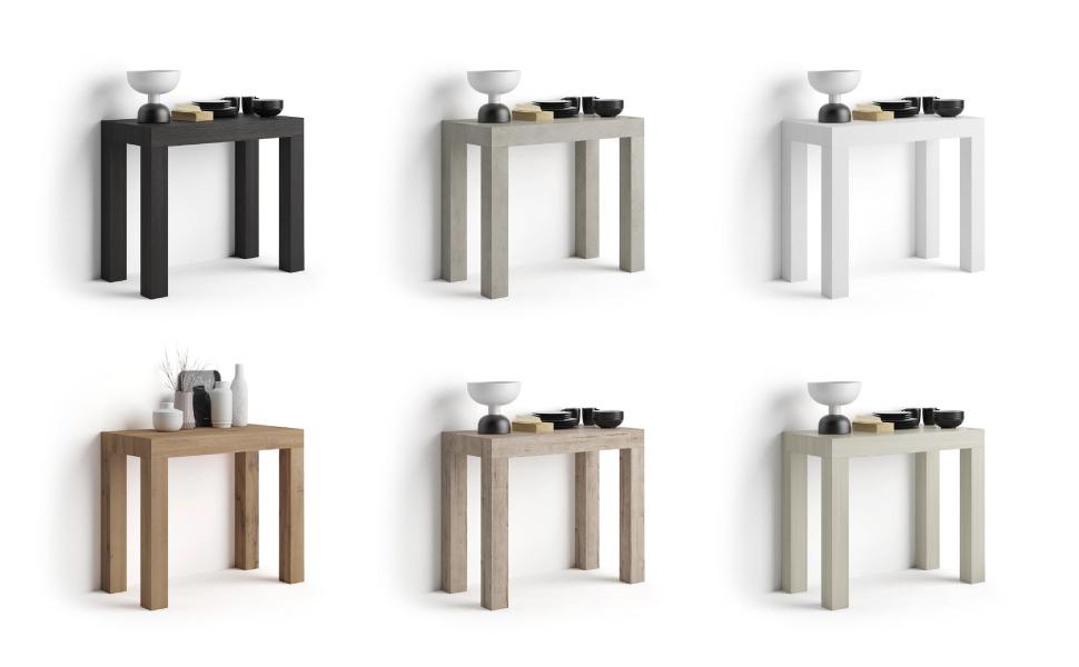Mobili Fiver Tavolo Consolle Allungabile First Bianco Frassino 90 X 45 X 76 Cm Nobilitato Alluminio Made In Italy Disponibile In Vari Colori Amazon It Casa E Cucina