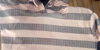 Womens Long Sleeve Drawstring Color Block Striped Hoodies