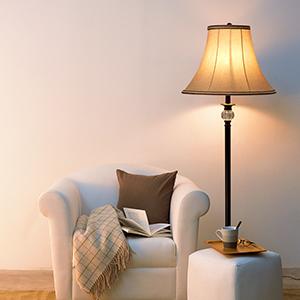 warm floor lamp