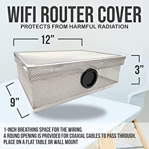 wi-fi router guard cover emf protection rf shield