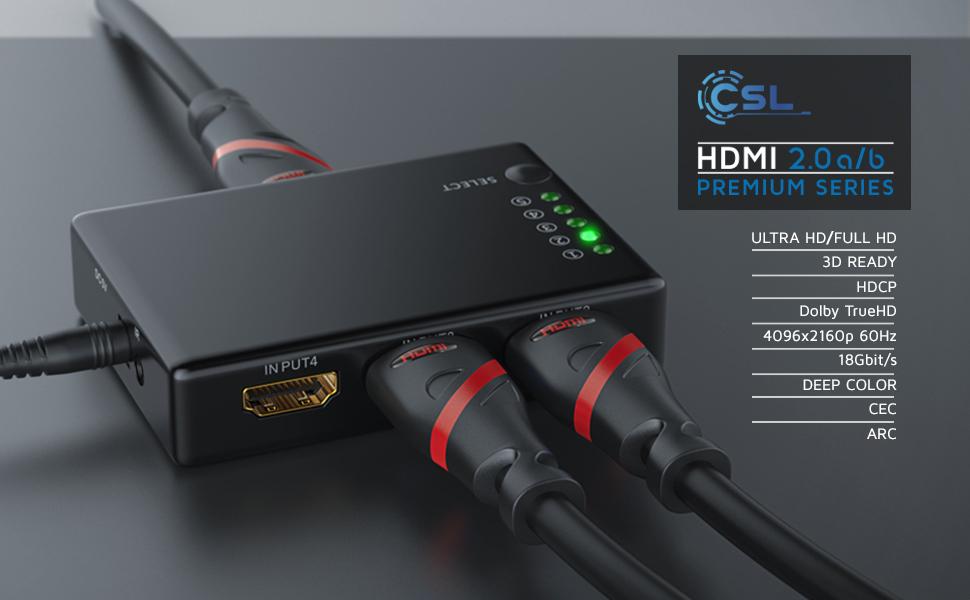 HDMI 2.0 Premium CSL Ultra HD Full Deep Color