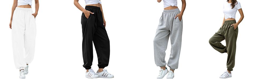 high waist baggy sweatpants