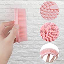 The details of silicone body scrubber