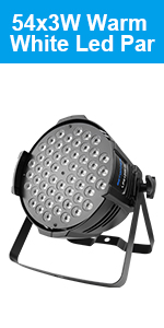 BETOPPER Dj Par Light Warm White 54x3W Decoration Stage Light for Theater,Stage,Wedding,Church,Party
