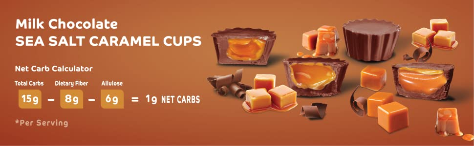 Go Better Milk Chocolate Sea Salt Caramel Cups