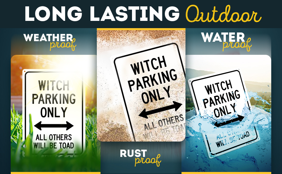 Witch Parking Only All Others Will Be Toad Funny No Parking Sign 10 X 14 Industrial Grade Aluminum Easy Mounting Rust Free Fade Resistance Indoor Outdoor Usa Made By My Sign Center Amazon Com Industrial