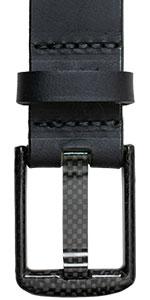Metal-Free Carbon Fiber Wide Pin Black Belt