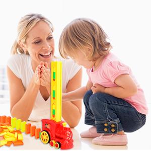 domino Parent-child interactive toys bulk dominoes Electric automatic domino train