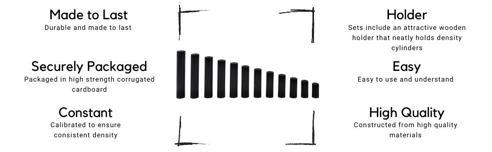 "Set of 12 derlin cylindrical bars. Each cylinder is the same diameter, 0.5"" (12.5mm)"
