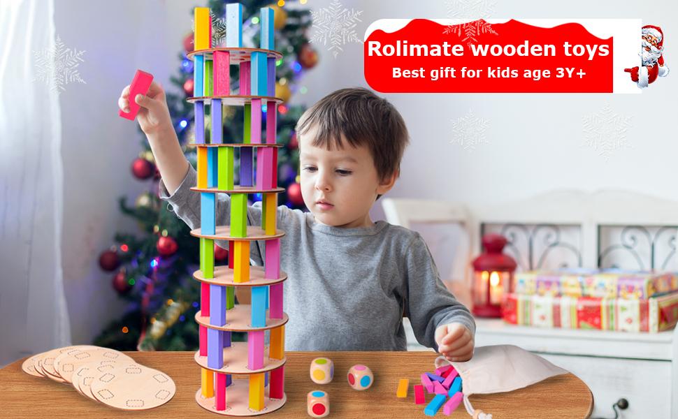 Juego de apilamiento en madera Torre de remolinos Torre de Pisa ...