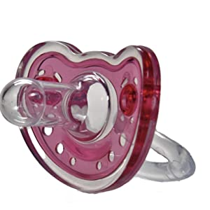 Sweetie Silicone Pacifier Refuser Soother 2 Count (Pink)