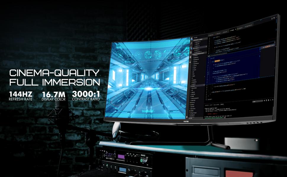 Cinema-Quality Ultrawide QHD Resolution