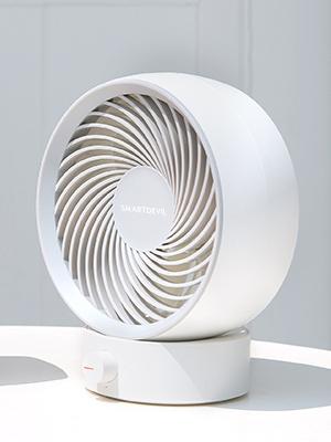 SmartDevil Ventilador de Mesa,Ventilador USB Silencioso Port/átil USB ventilador de Escritorio port/átil mini,180/° velocidad variable /& /Ángulo de rotaci/ón de 20 /°,adecuado para el hogar,la oficina-Blanc