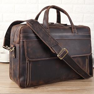 mens leather laptop briefcase