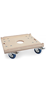 load 450kg and 600 x 500 mm Size Heavy-Duty Dolly perfect for moving Trusses or as Transport-Roller Trolley and Furniture-Mover with a max