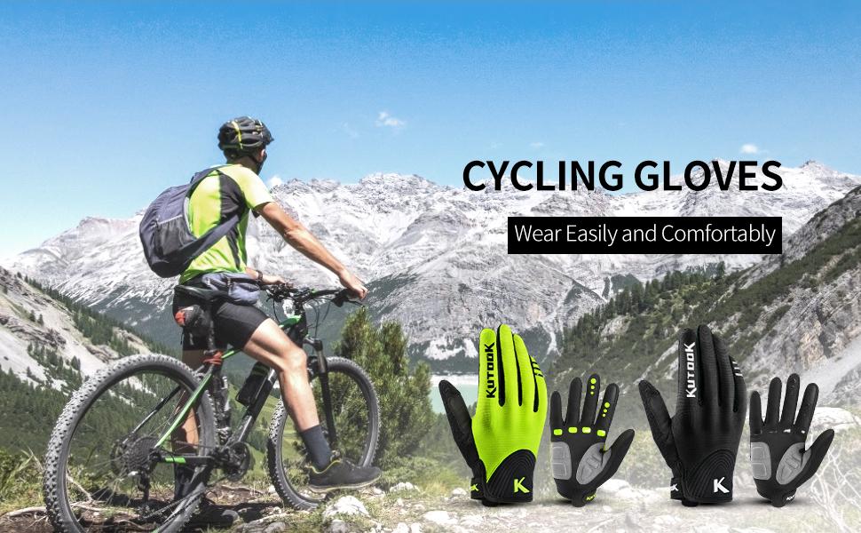 KUTOOK Guantes Bicicleta De Pantalla Táctil Hombre Mujer con ...
