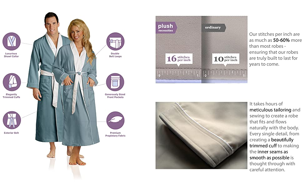 Luxury Spa Robes - Features
