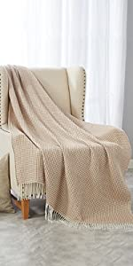 Knit Throw Blanket for Travel Picnic Beach Soft